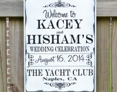 Custom Wedding Sign, Personalized Wedding Gift, Engagement Gift, Anniversary Gift, Important Date Custom Wood Sign - Invitation