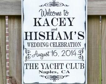 Custom Wedding Sign - Personalized Wedding Gift - Wedding Decor - Wedding Accessory - Invitation Sign - Wedding Celebration Sign