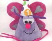 Butterfly FurGiggle Birthday Puppet Hat