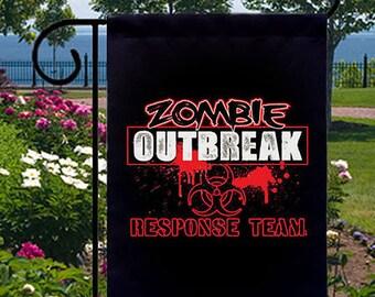 Zombie Outbreak Response Team New Small Garden Yard Flag Decor Events