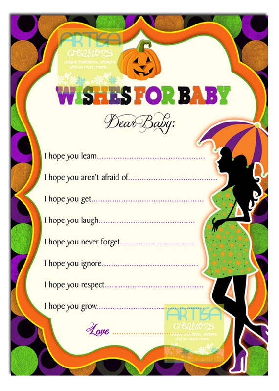 baby shower wishes for baby card halloween baby shower games