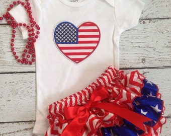 Memorial Day/4th of July /First 4th of july/Patriotic/American Cutie/Red White and Blue /First Birthday/Pageant/PhotoProp