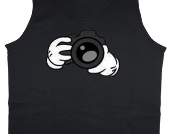 Mens Tank or sleeveless / Camera hands
