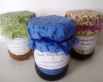 SIX Pack Jam & Jelly Gift/ Hostess Gift SIX Pack / 6 Jars/ 8 oz Ea/CIJ/ Holiday Gift /Christmas Gift/ Hostess Gifts