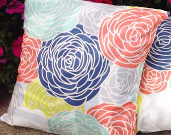 "One 16"" Square Pillow Cover - Blossom Multi"