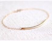 SALE simple curved bar bracelet