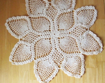 SNOWFLAKE - A Crocheted Doily That Can Be Used as Snowflakes - For the Home - Vintage - No. 12