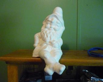 Ready to Paint Ceramic Shelf Sitting Alberta Gnome