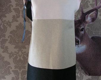 Summer dress in three colors linen sleeveless / node. 8714