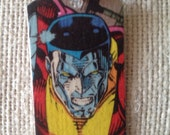Colossus X-Men Upcycled Comic Book Tag, Includes Necklace
