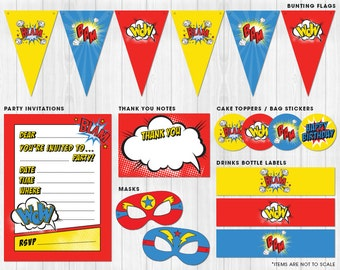 Superhero Party Pack Printables // Digital files to print