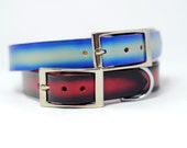 Airbrushed Gradient Leather Dog Collar