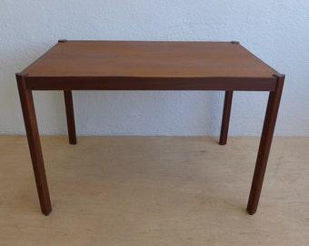 Walnut Teak Side Table by Hans Olsen