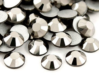 Metallic Grey Rhinestone 144pcs FlatBack Crystal Non Hotfix