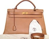 Vintage Authentic Hermes Kelly Bag 40 cm Very Rare from the 1960s!