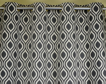 Warm Gray Beige Ivory Natural Linen Nicole Curtains - Grommet - 84 96 108 or 120 Long by 25 or 50 Wide - Optional Blackout or Cotton Lining