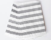 Gray Rugby Stripe Favor Bags from The TomKat Studio