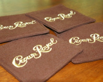 Crown Royal Maple Fabric Coasters - Set of 4 Made from Genuine Crown Royal Bags Great Stocking Stuffer Etsy Dudes Christmas in July CIJ