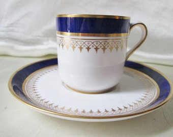 Vintage Spode Copeland China Classic Cobaslt Blue and Gold Trim Demitasse Cup/Saucer. FatheRs Day Gift,Groomsman Gift. Christmas Gift