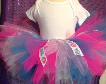 La la loopsy Tutu pink  and blue Loopsy Girl Ribbon