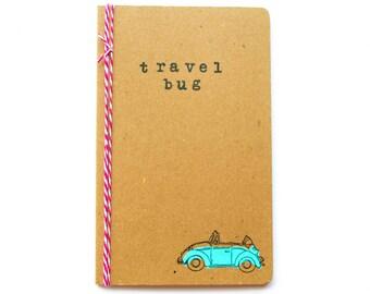 Travel Bug Journal: Turquoise