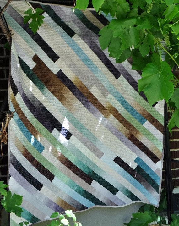 Diagonal Baby Quilt Pattern 39 Inches By 49 By Richardquilts