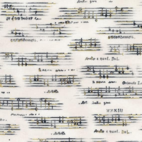 Sheet Music from All That Jazz for Robert Kaufman Fabrics