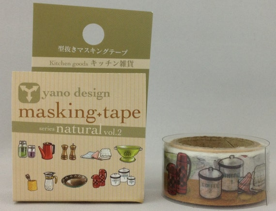Kitchen Japanese Die Cut Washi Tape Masking By
