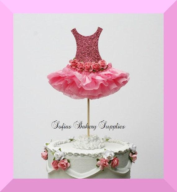 Cake Toppers Etsy Uk : Prima Ballerina Tutu Cake Topper