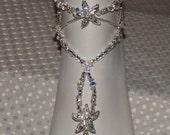 Swarovski Wedding Starfish Jewelry Bottomless Barefoot Sandals Wedding Barefoot Sandal Foot jewelry Anklet Bridal Starfish Jewelry- ONE PAIR