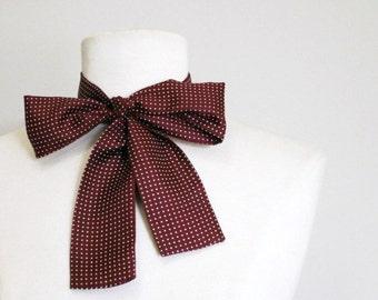 Vintage Silk Bow Tie Polka Dots