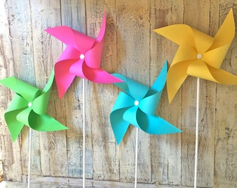 Pinwheels - Neon Collection - Set of 8