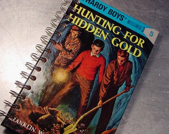 Journal Notebook - HARDY BOYS sign of the Crooked Arrow -  recycled Altered Book