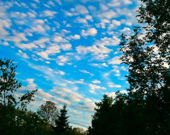 Chasing Blue Sky, Fine art photography,  Canadian  scenery photograph,  print great for framing home or office.