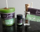 Good Luck Green Spell Candle Kit, for abundance, good luck, good fortune, gambling,  lucky lotto