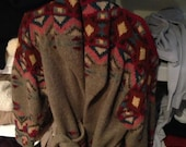 Ralph Lauren sweater jacket Indian native collection