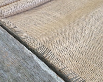 Frayed Edge Burlap Table Runner, Burlap runner, table runner, runner, burlap