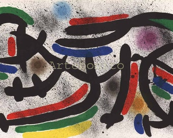 "Miro Original Lithograph  ""V1-9"" 12.5 x 19.5 inch 1970"