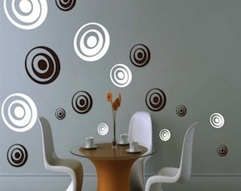 Depth Rings Wall Decals, Ring Wall Designs, Shapes Wall Stickers, Ring Wall  Mural