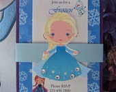 Frozen Party Invitation | Frozen Birthday Invitations | Frozen Anna Invitations | Anna and Elsa Invites | Elsa Invites | Anna Invites