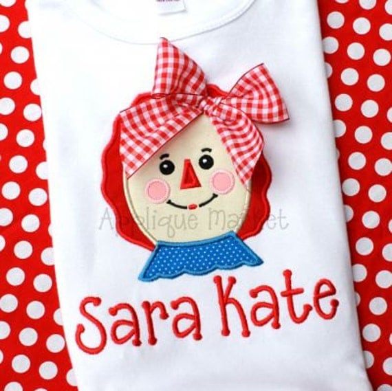 PERSONALIZED Raggy girl shirt