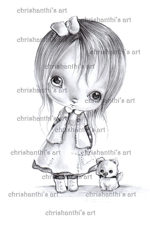 INSTANT DOWNLOAD Digital Digi Stamps..by Chrishanthi's art,Lilith.