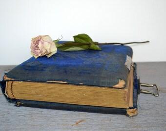 Vintage Victorian Blue Velvet Photo Album