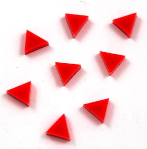 Laser Cut Supplies-8 Pieces. Triangle Charm-Laser Cut Acrylic Shape -Little Laser Lab.Online Laser Cutting Australia