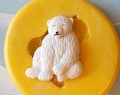 Polar Bear Mold -    flexible silicone - Resin - Polymer Clay - FOOD Safe - Fondant - Chocolate - Candy- Sugar Paste - C359M