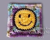 PDF Crochet Pattern File - Happy Daze Square