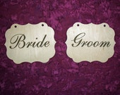 Bride And Groom Chair Signs DIY Wedding Decorations