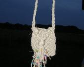 Handmade Macrame Necklace Little Bag