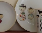 Meito Stylized Childen Figures luncheon Set-Item Number C02602