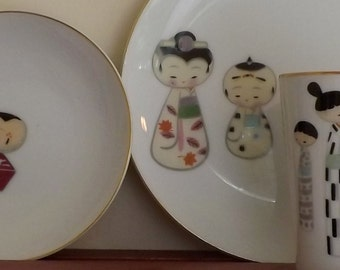 Meito Stylized Childen Figures luncheon Set-Item Number C02602 [L08]